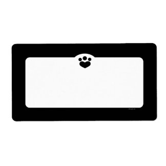 Paw Print Off-Leash Art™ Pet Simple Black Label