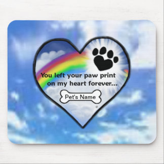 Paw Print On My Heart Mousepads