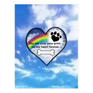 Paw Print On My Heart Postcard