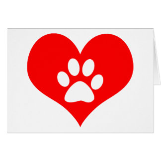 paw print on your heart pet loss memorial card