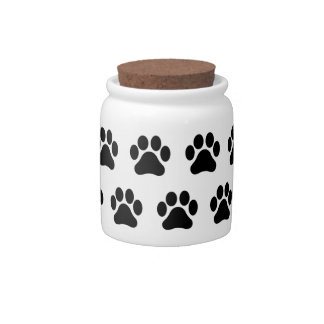 Paw Print Pattern Animal Lovers Candy Jar