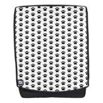 Paw Print Pattern Boldface Backpack
