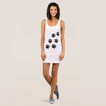 Paw Print Pattern Women's Tank Dress