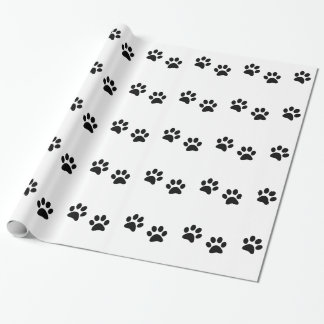Paw Print Pattern Wrapping Paper