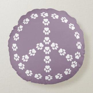 Paw Print Peace Sign Pillow