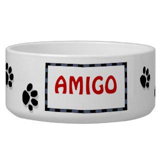 Paw Print Pet Bowl Dog Bowl