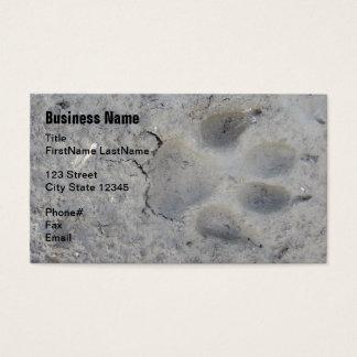 paw print pet business card