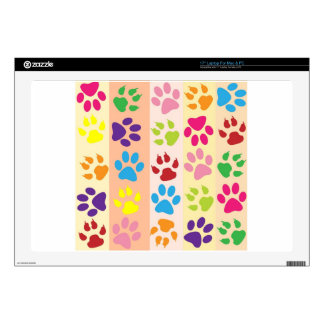 """Paw Print Pet Design Decals For 17"""" Laptops"""