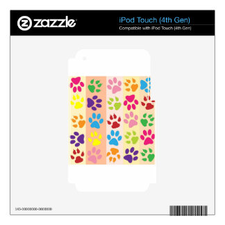 Paw Print Pet Design Decals For iPod Touch 4G