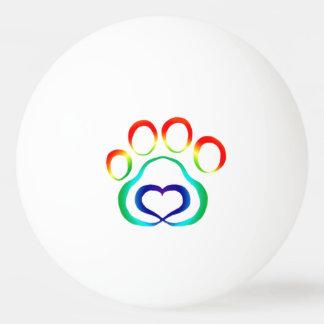 Paw Print Ping Pong Ball