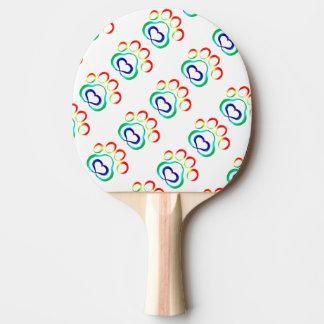Paw Print Ping Pong Paddle