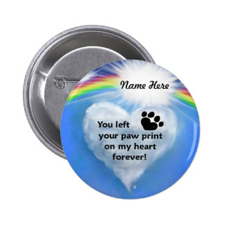Paw Print Poem Pinback Button