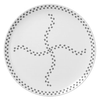 Paw Print Portion Control Four Way Split Party Plate