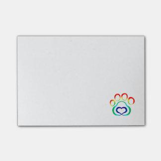 Paw Print Post-It Note Pad