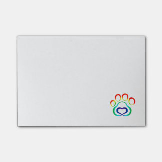 Paw Print Post-It Note Pad Post-it® Notes