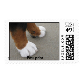 paw print postage stamps