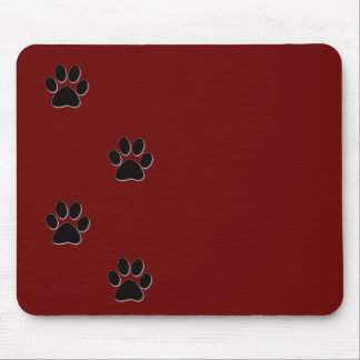 Paw print products mouse pad