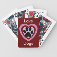 Paw print products playing cards