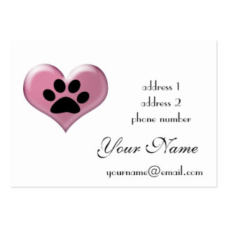 paw print profile card business card templates
