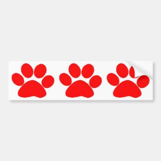Paw Print (Red) Car Bumper Sticker