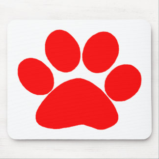Paw Print (Red) Mouse Pad