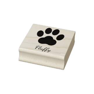 Paw Print Signature Rubber Stamp