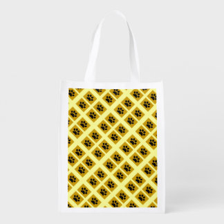 Paw Print Squares Grocery Bags