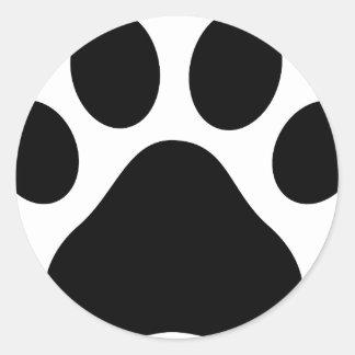 Paw print round sticker