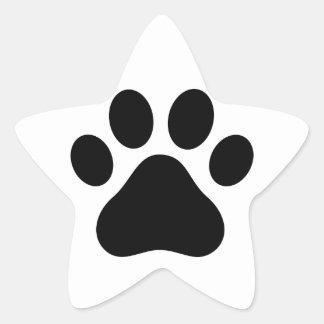 Paw print star stickers