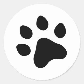 paw print classic round sticker