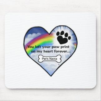 Paw Print Sympathy Poem Mousepads