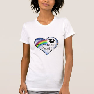 Paw Print Sympathy Poem T-Shirt