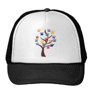 Paw Print Tree Design - Multi-Color Mesh Hat
