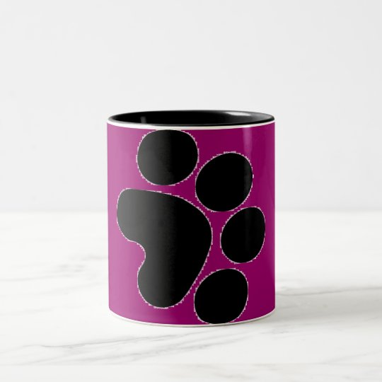 Paw Print Two-Tone Coffee Mug