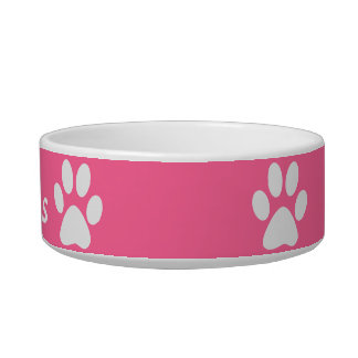 Paw Print ~ With Pets Name Bowl