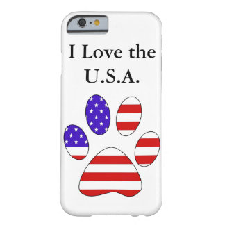 Paw Print with the American Flag Barely There iPhone 6 Case