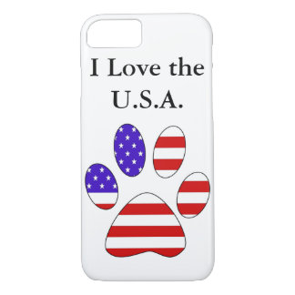 Paw Print with the American Flag iPhone 8/7 Case