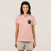 Paw Print Women's Polo T-Shirt