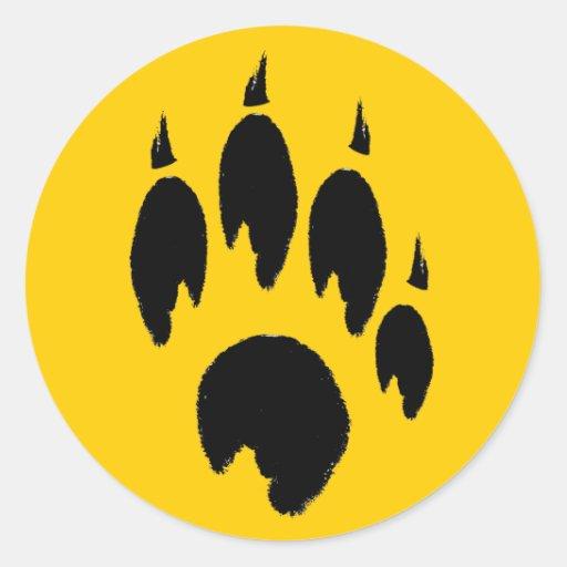 Coyote paw print
