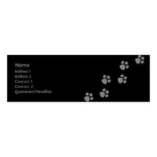 Paw Prints 2 Business Cards