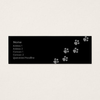 Paw Prints (2) Mini Business Card