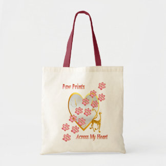 Paw Prints Across My Heart Bags