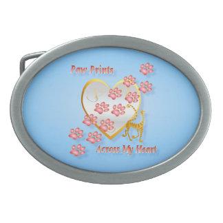 Paw Prints Across My Heart Belt Buckle