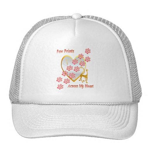 Paw Prints Across My Heart Hat
