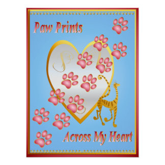 Heart Paw Posters | Zazzle