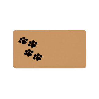 Paw Prints Address Label