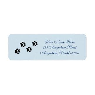 Paw Prints Address Labels