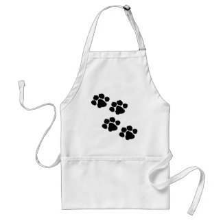 Paw Prints Personalized Apron