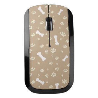 Paw Prints and Dog Bones Design Wireless Mouse