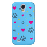 Paw Prints and Hearts Galaxy S4 Cover
